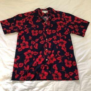 Mens T&L MuuMuu Factory Hawaiian Shirt Large